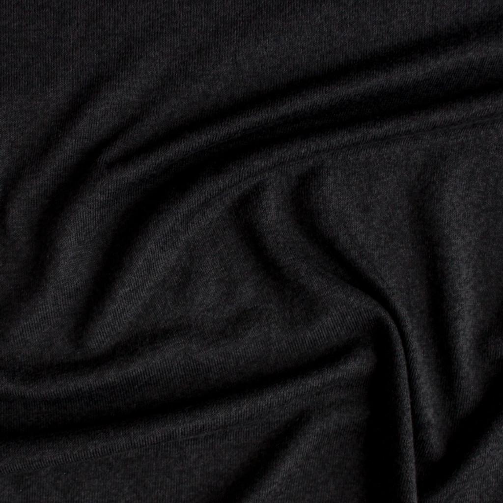 Rayon, Cotton, & Modal Sweater Knit - Black | Blackbird Fabrics