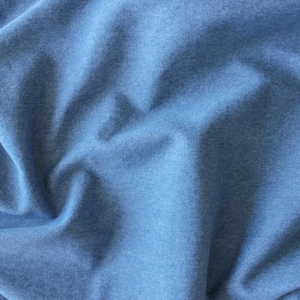 10oz Cotton Denim - Light Blue Wash (with Pink)   Blackbird Fabrics