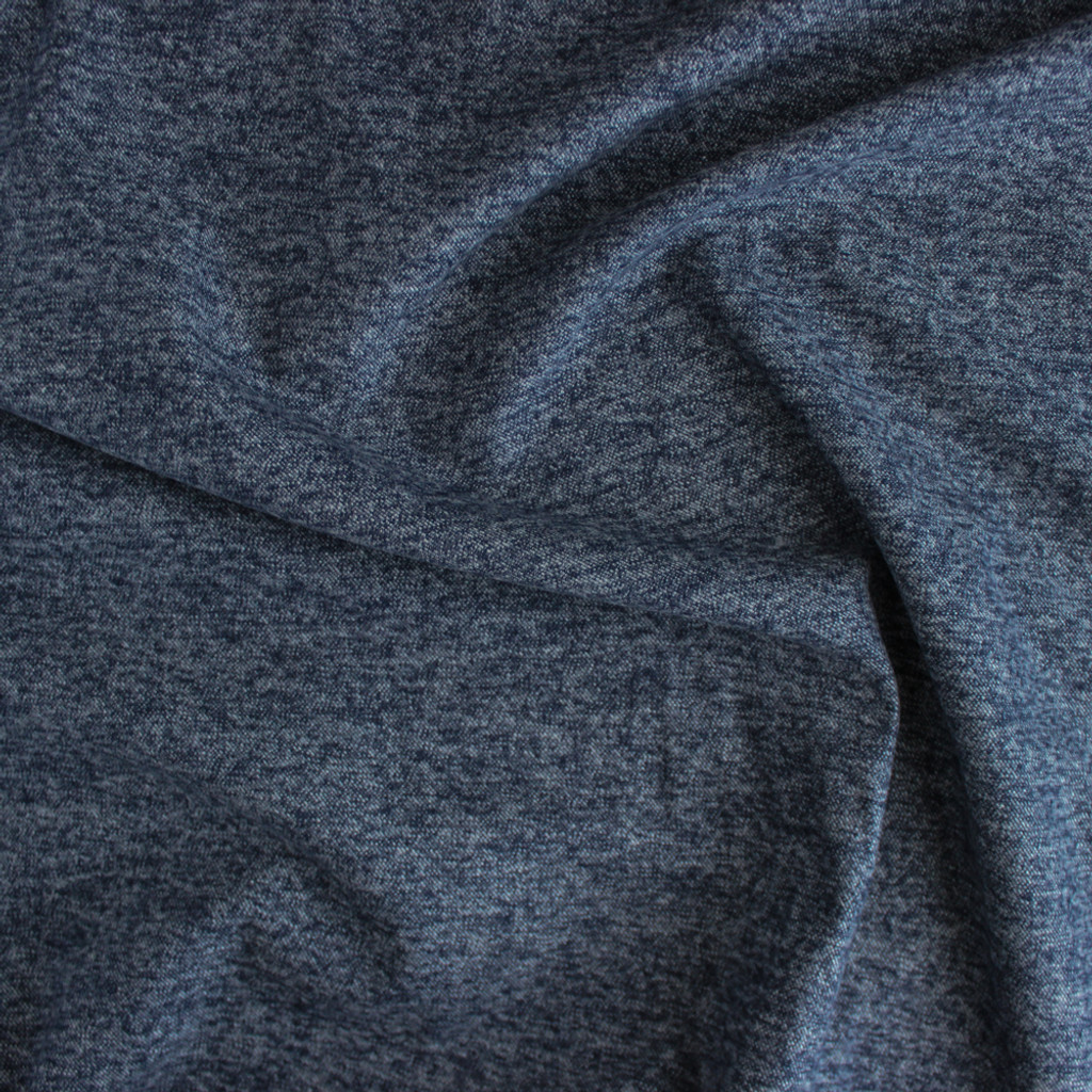 Brushed Cotton Flannel - Heathered Grey Blue | Blackbird Fabrics