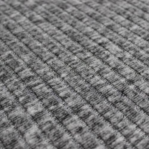 Brushed Ribbed Sweater Knit - Heathered Grey | Blackbird Fabrics
