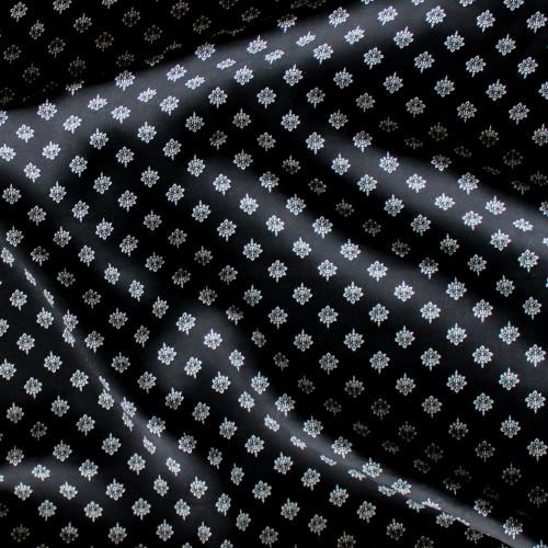 Diamond Print Rayon Voile - Black/White | Blackbird Fabrics