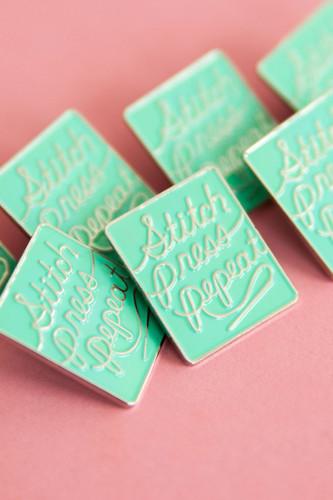 Stitch Press Repeat Pin by Colette Patterns | Blackbird Fabrics