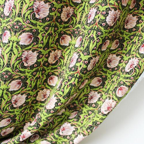Tapestry Floral Viscose Poplin - Green/Blush | Blackbird Fabrics