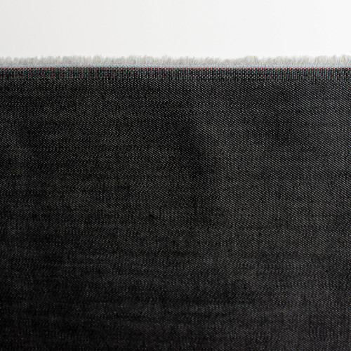 10oz Cone Mills S-Gene Stretch Denim - Black | Blackbird Fabrics