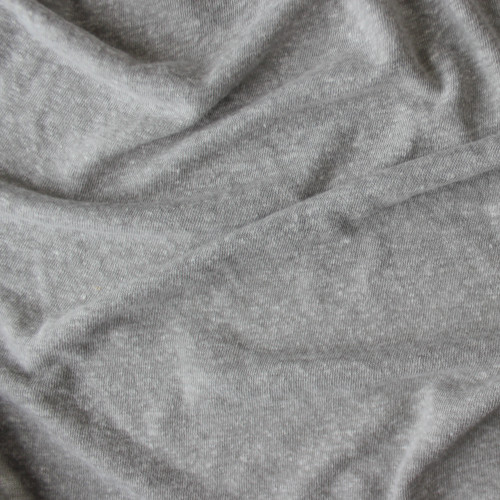 Linen & Poly Knit - Light Heathered Grey | Blackbird Fabrics