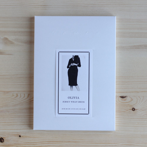 Olivia Jersey Wrap Dress by Named Clothing   Blackbird Fabrics