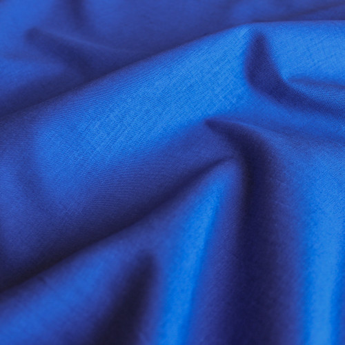 Stretch Linen Viscose - Royal Blue - 1/2 meter