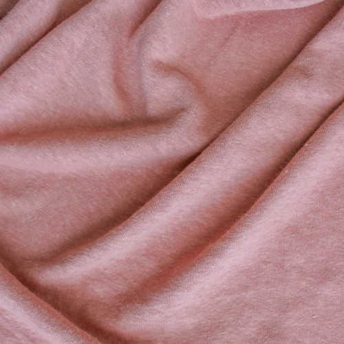 Hemp & Organic Cotton Jersey - Pale Terra Cotta | Blackbird Fabrics