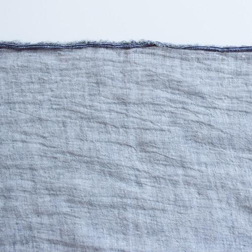 Crinkle Linen Chambray - Stone | Blackbird Fabrics
