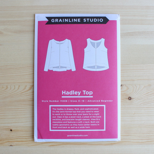 Hadley Top by Grainline Studio | Blackbird Fabrics