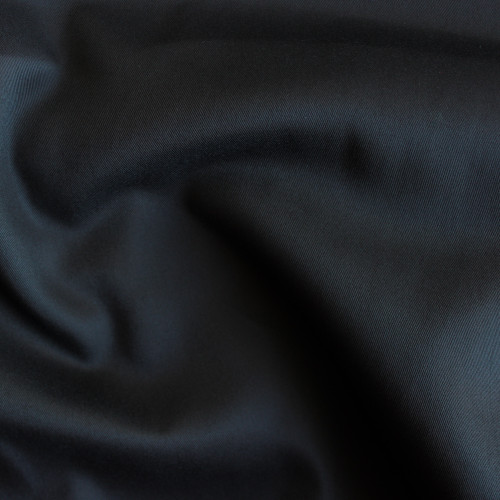 Cotton & Poly Blend Twill - Black | Blackbird Fabrics