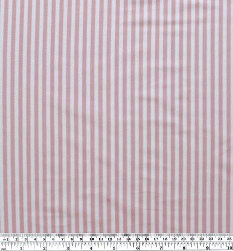 Mini Striped Bamboo & Cotton Jersey Knit - Rose/White | Blackbird Fabrics