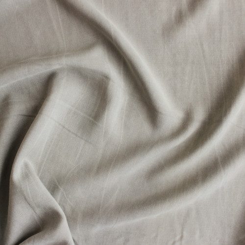 Sandwashed Rayon - Warm Grey | Blackbird Fabrics