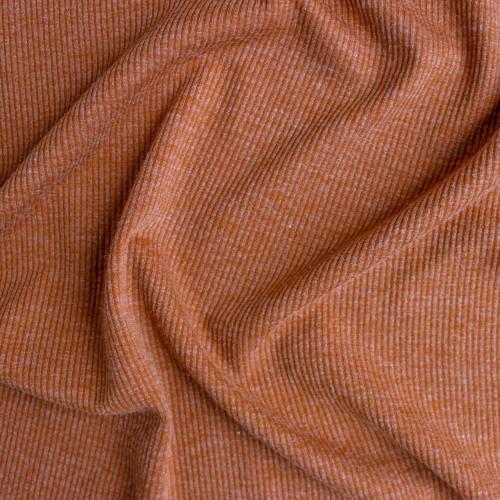 Melange Rib Sweater Knit - Pumpkin | Blackbird Fabrics