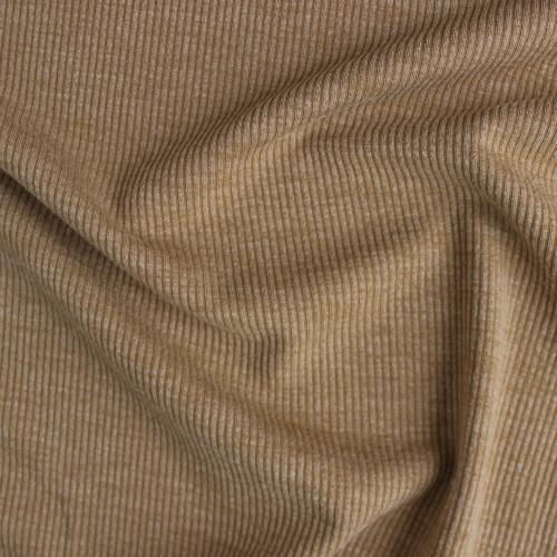 Melange Rib Sweater Knit - Latte   Blackbird Fabrics