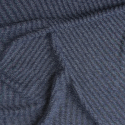 Melange Rib Sweater Knit - Navy | Blackbird Fabrics
