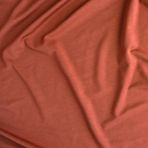Bamboo Jersey Knit - Burnt Orange | Blackbird Fabrics
