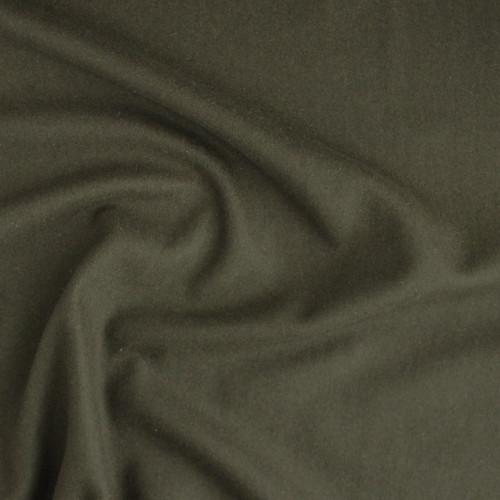 Wool & Cashmere Melton Coating - Olive Green   Blackbird Fabrics