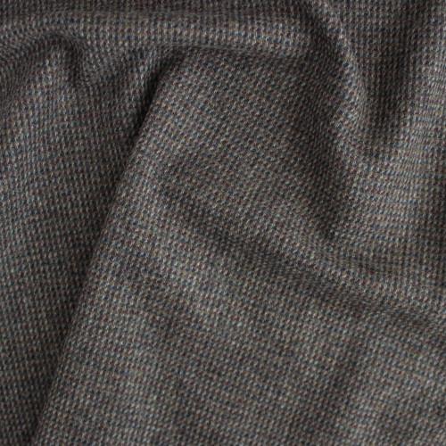 Wool Tweed Coating - Grey/Brown   Blackbird Fabrics