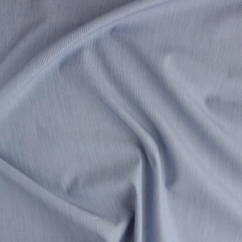 Micro Striped Japanese Cotton Shirting - White/Blue    Blackbird Fabrics