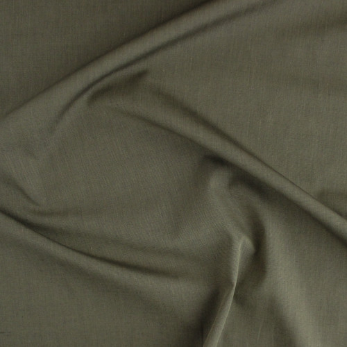 Japanese Cotton Chambray Shirting - Golden Moss   Blackbird Fabrics