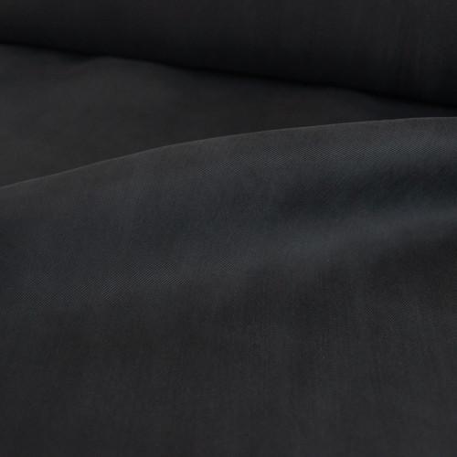 Cupro & Viscose Twill - Black   Blackbird Fabrics