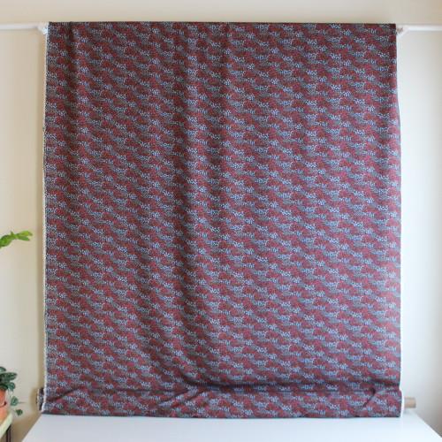 Floral Viscose Voile - Navy/Coral | Blackbird Fabrics