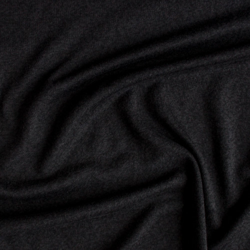 Rayon, Cotton, & Modal Sweater Knit - Black | Blackbird Fabrics