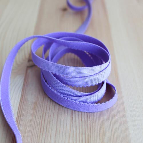 """3/8"""" (9mm) Plush Back Elastic - Blue Violet - 1 meter"""