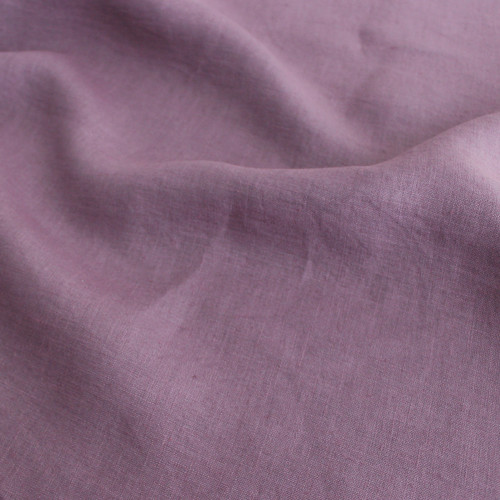 Washed Italian Linen - Mauve - 1/2 meter