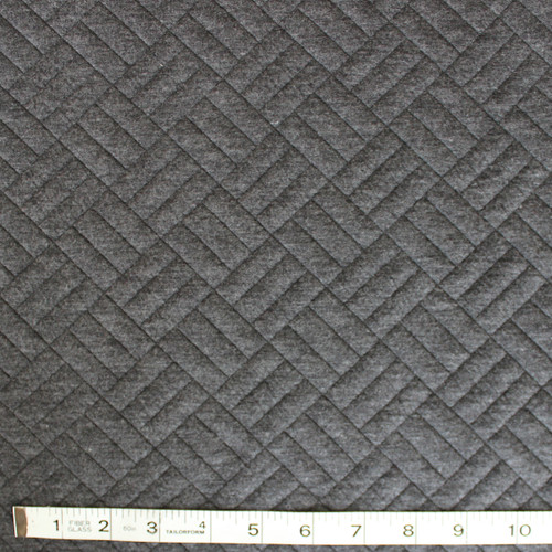 Boxy Quilted Knit - Charcoal - 1/2 meter