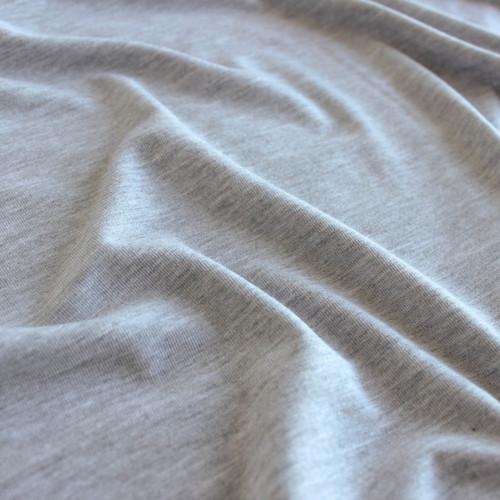 Modal Jersey Knit - Light Heather Grey, Close-up | Blackbird Fabrics