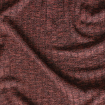Brushed Ribbed Sweater Knit - Heathered Rust | Blackbird Fabrics
