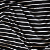 Bamboo & Cotton Striped Jersey Knit - Black/Ivory | Blackbird Fabrics