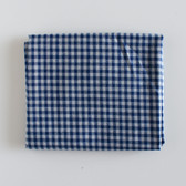 Remnant - 85cm - Gingham Cotton Shirting - Blue/Grey | Blackbird Fabrics