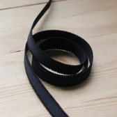 "1/2"" (12mm) Plush Elastic Strapping - Black 