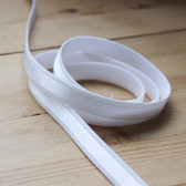 "1/2"" (12mm) Satin Stripe Elastic Strapping - White 