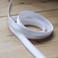 "1/2"" (12mm) Satin Stripe Elastic Strapping - White | Blackbird Fabrics"