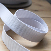 "1"" (25mm) Non Roll Elastic - White 