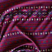 Boho Rayon Challis - Dark Red | Blackbird Fabrics