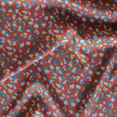 Cheetah Print Rayon Challis - Orange/Multicolour | Blackbird Fabrics