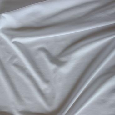 Bamboo Cotton Jersey Knit - White | Blackbird Fabrics