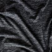 Marled Poly Blend Knit - Black | Blackbird Fabrics