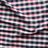 Plaid Japanese Cotton Shirting - Navy/White/Red | Blackbird Fabrics