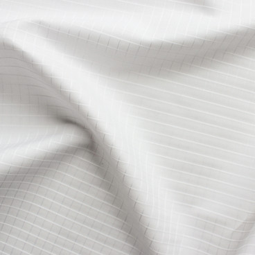 Tone on Tone Windowpane Check Japanese Cotton Shirting - White | Blackbird Fabrics