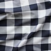 Buffalo Check Japanese Cotton Shirting - Navy/White | Blackbird Fabrics