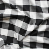 Buffalo Check Japanese Cotton Shirting - Black/White | Blackbird Fabrics