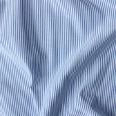 Narrow Striped Japanese Cotton Seersucker Shirting - Blue/White | Blackbird Fabrics