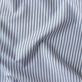 Striped Japanese Cotton Shirting - White/Grey Blue | Blackbird Fabrics