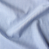 Narrow Striped Japanese Cotton Shirting - Blue/White | Blackbird Fabrics